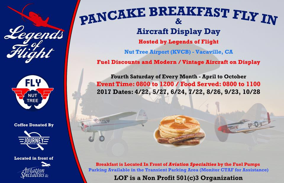 Legends of Flight pancake breakfast