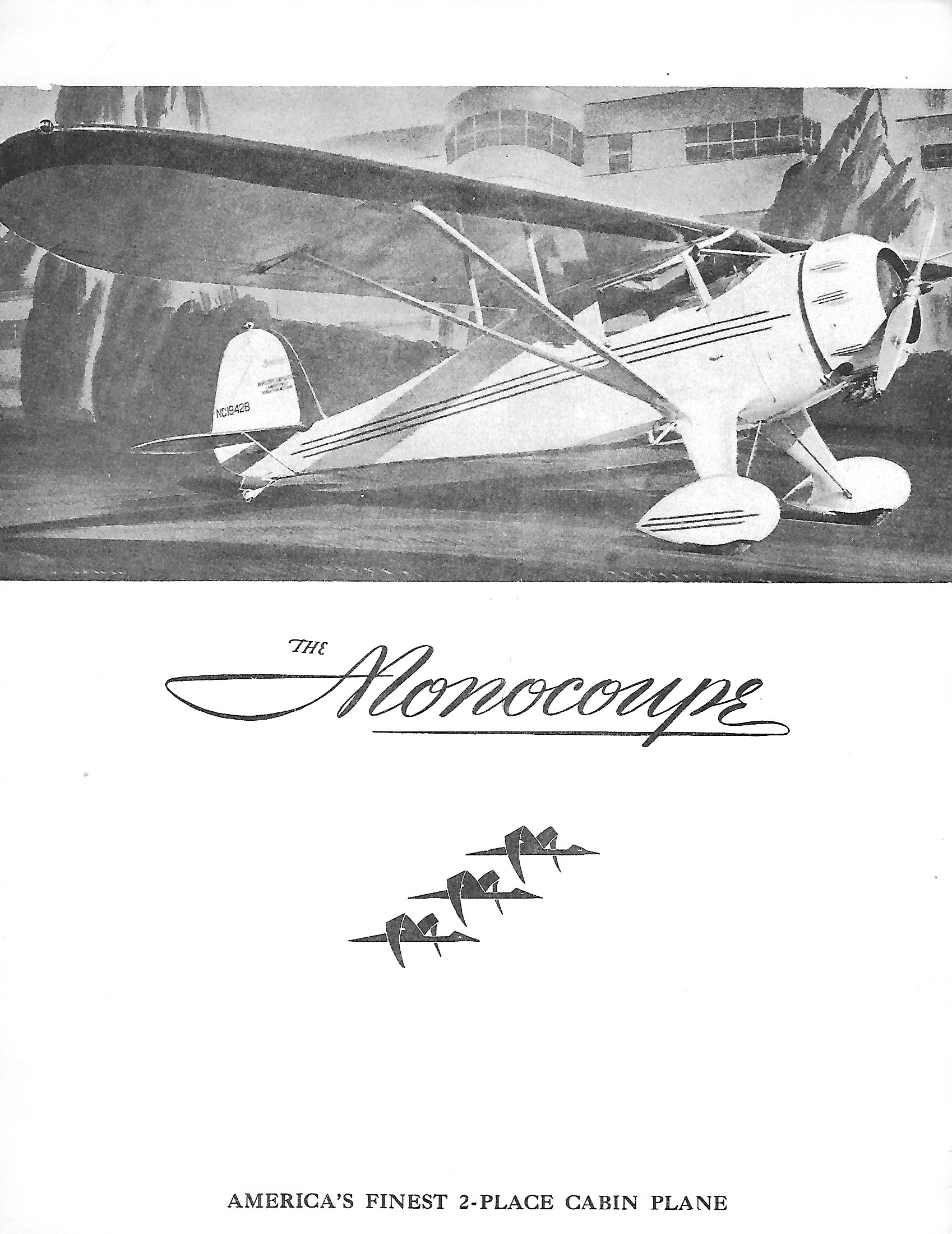 Monocoupe 90A Brochure front page