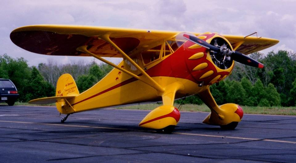 Red Lerille's Monocoupe 110 Special in Yellow and Red
