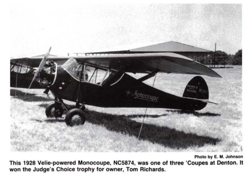 NC5874 Velie Monocoupe 113